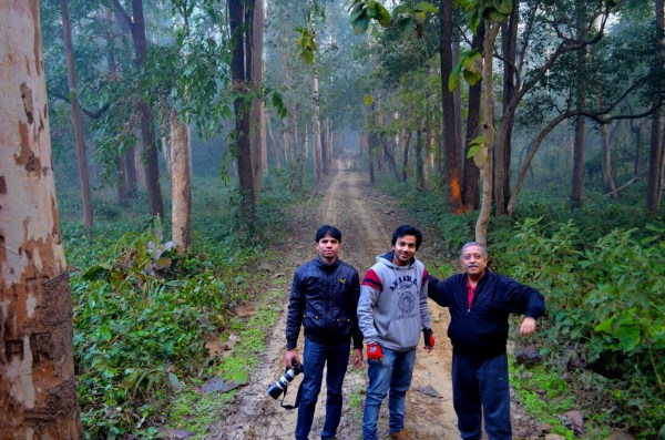 The adventurous trio from Delhi...