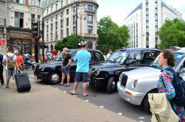 London Cab strike. 11 June 2014. It is a strike... not just a jam!