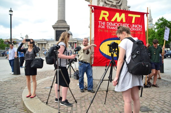London Cab strike. 11 June 2014. Journalists were there...