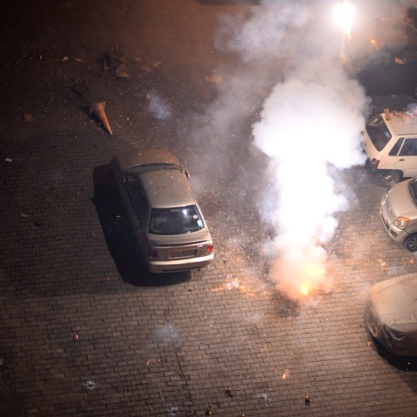 My Diwali 2014 photo-essay. Smoke and noise are an integral part of Diwali.