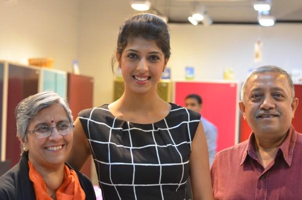 With Aishwarya Sakuja... the heart-throb on Indian TV.