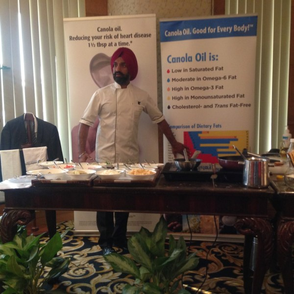 Chef Jolly... prepared two dishes using Canola oil