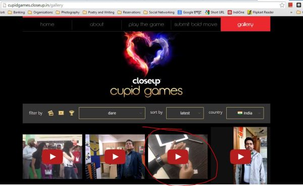 CupidGames_video short-listed