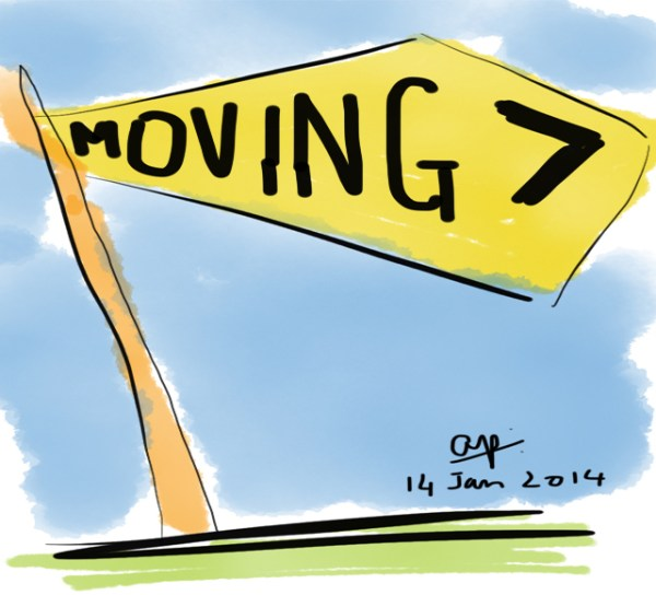 Relocating... moving. artwork drawn by Arvind Passey