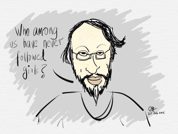 Has Dr Pachauri imagined well...? Sketch by Arvind Passey
