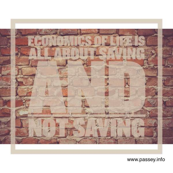 Economics of life is all about saving and not saving. #MemoriesForLife