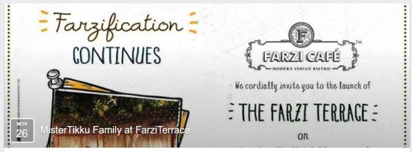 Farzi café - the invite from Tikkuji