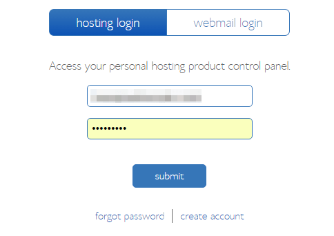 step 9 - bluehost log in