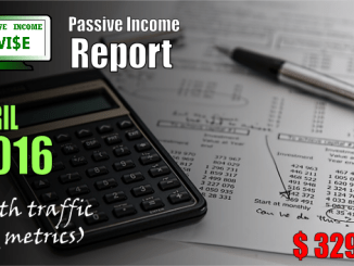 monthly income report april 2016