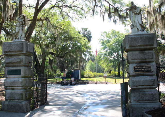 Main gate of the Bonaventure Cemetery