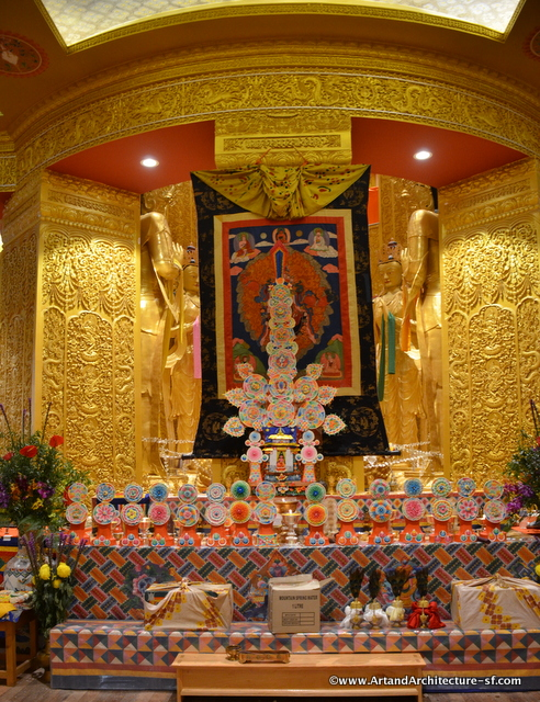 The Altar in the temple under the Giant Buddha