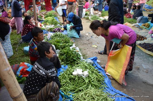 Bhutanese market