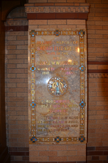 While there are no Tiffany windows in St. Stephens this plaque was done by the Tiffany Company