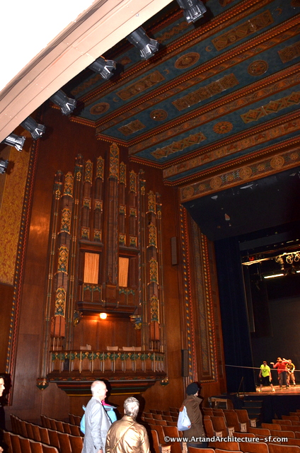 The ornamentation around the stage