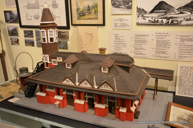 A model of the railway station at the Mauch Chunk Historical Society