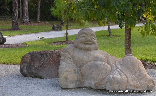 Hotei, or God of Happiness isn't as easy to find as one would expect by his size.