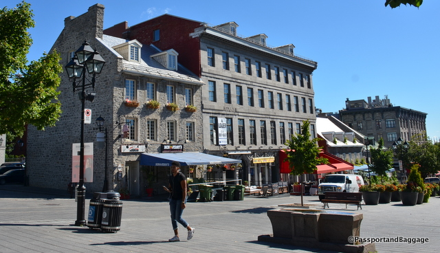 A street of Old Montreal, now revitalized with restaurants and shopping.