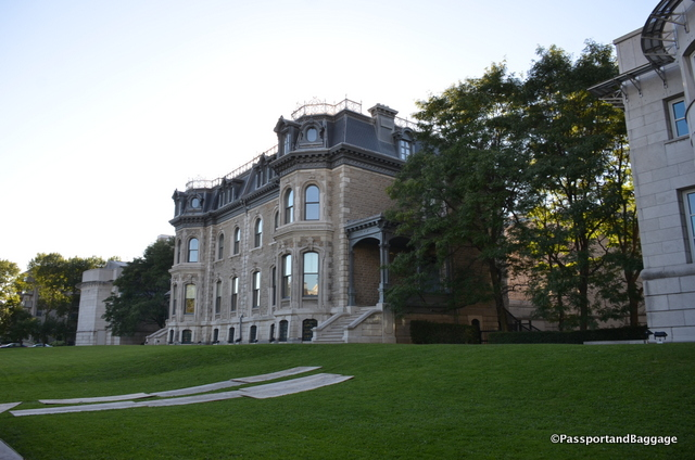 The Canadian Centre for Architecture (CCA) is a museum of architecture and research center that incorporates the second empire style Shaughnessy House. The CCA sits within the Golden Square Mile.