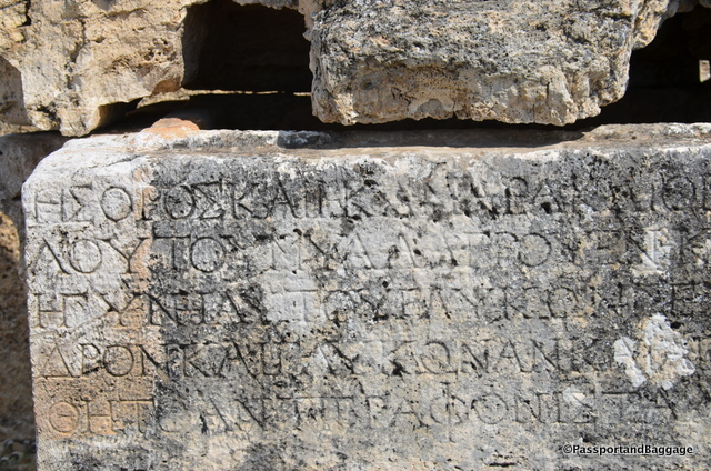 Inscriptions can be found on stones throughout Hieropolis