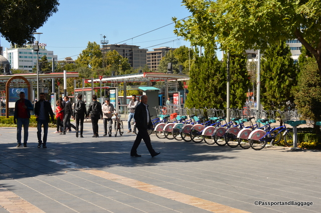 The city even has a bike share program