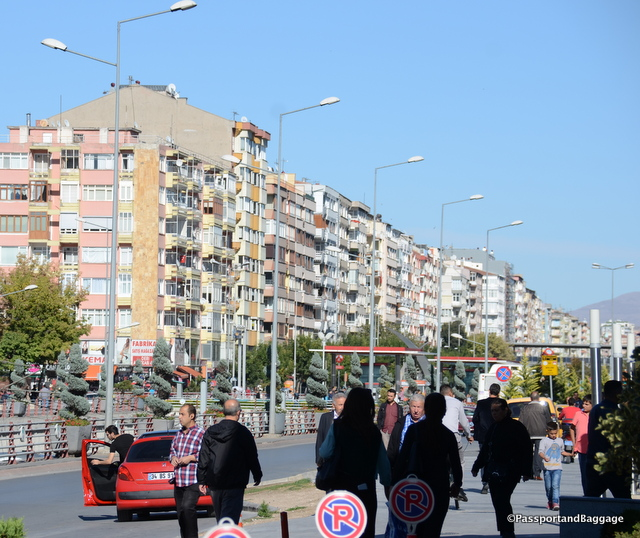 A typical large town of Turkey with its high rise nondescript condos and apartments