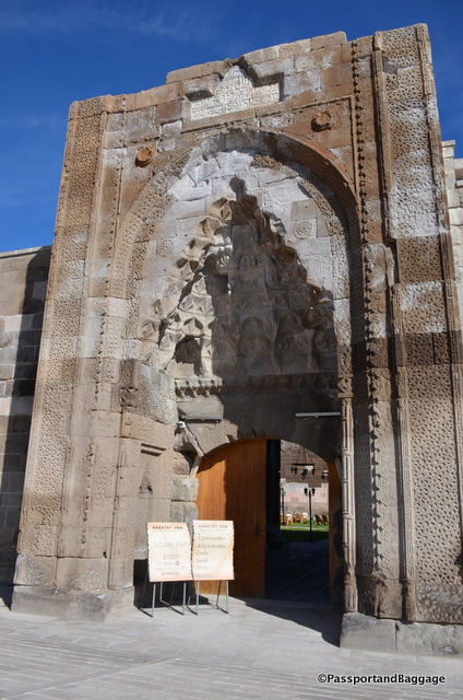 The entry to the caravansary
