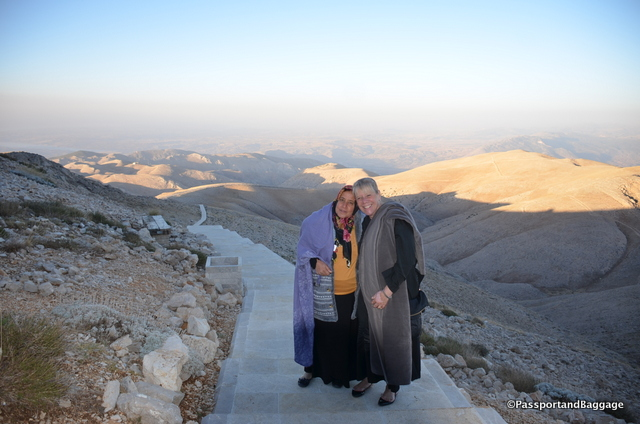 This woman wanted a picture with me, I thought it only fair I got one to. There were only 6 of us there to watch the sunrise, she and I, the only women. Believe me the climb was not easy in a skirt with our female shoes.