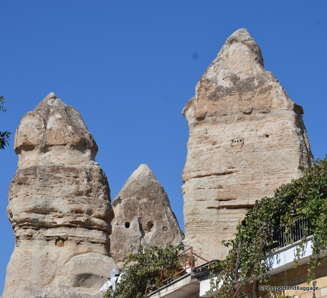 Fairy Chimneys of Cappadocia. In the past pigeons would roost in these tall pieces of stones, their cooing would cause a sound that made the locals think that the pillars were inhabited by fairies.