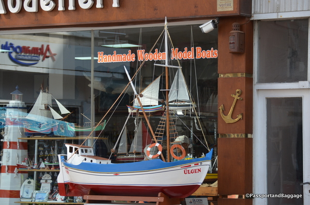Boat model shops are rather prevalent around downtown Sinop