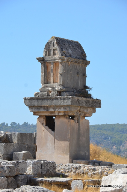 A pillar tomb at Xanthos