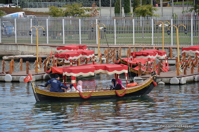 Water taxis abound in Istanbul, for some reasons the ones at Eyup look like Venitian Gondolas
