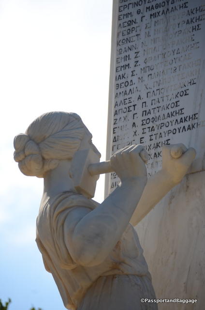 The war memorial in Ano Meros