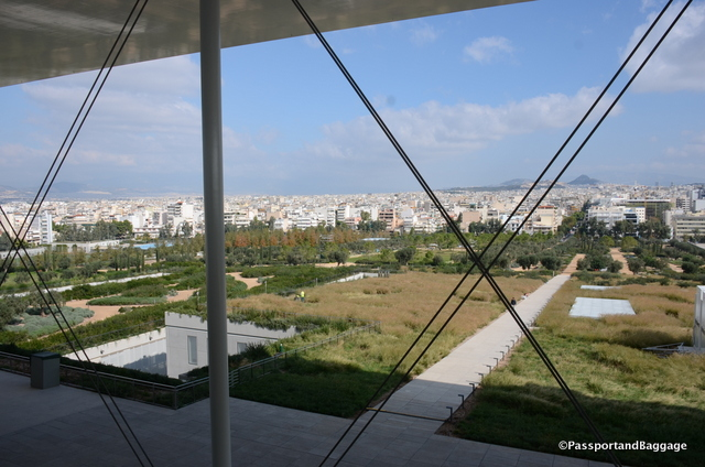 The view of Athens from the Stavros Niarchos Cultural Center