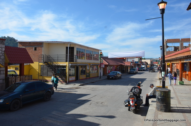The main street of Creel runs parallel to the Chihuahua Pacific Railroad Tracks and depends on the tourists and Mexicans that ride the rails