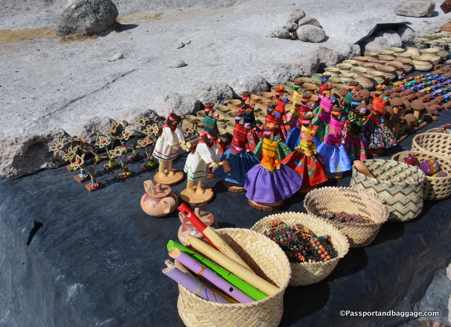 The handicrafts within the Tarahumara lands are superior to those you find on the streets