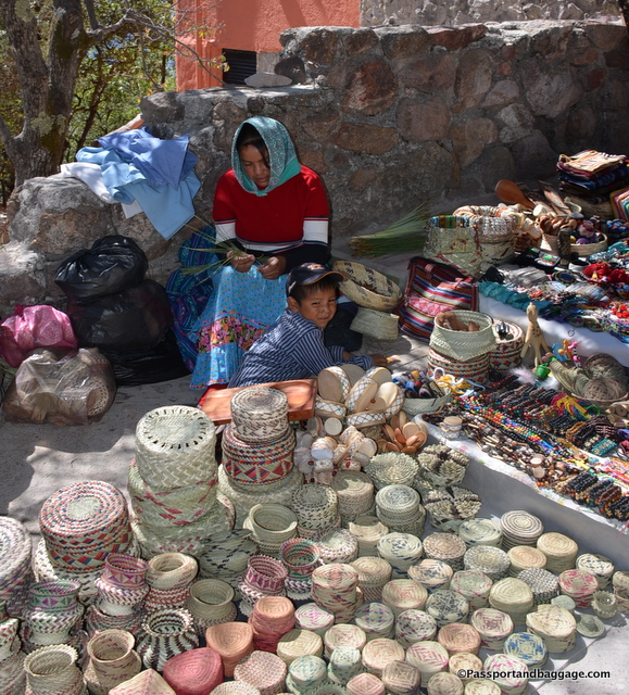 There are women sitting on the steps of the hotel all day long selling handicrafts. If you are fortunate you will see them weaving baskets when there are not customers.