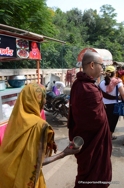 I found it fascinating that a beggar would ask a monk for money
