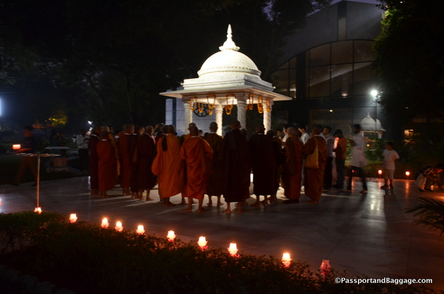 The day ended with a stunning candlelight procession