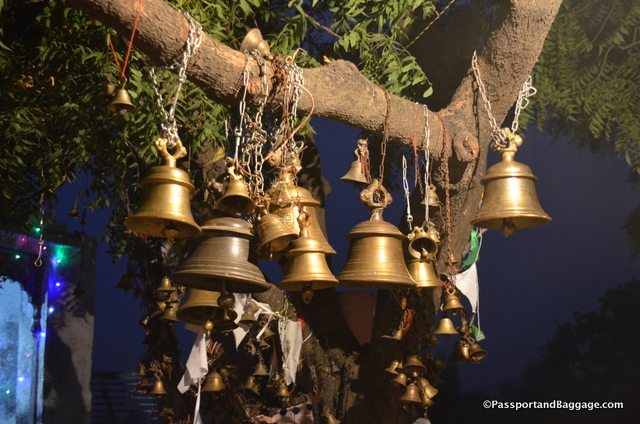 Bells at the top of the stupa