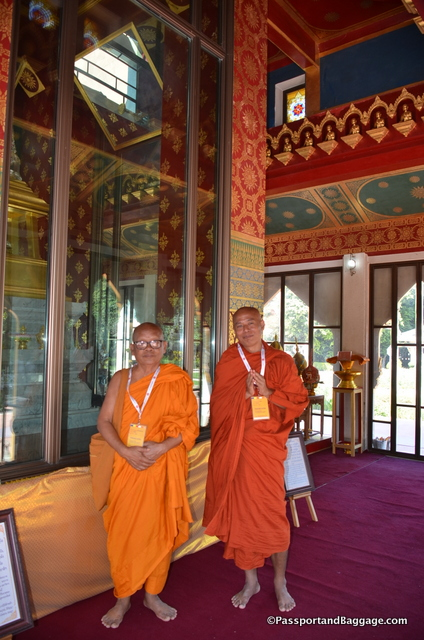 Dr. Jaran and Javana, both Thai high ranking monks asked that I take their picture in this stunning building.