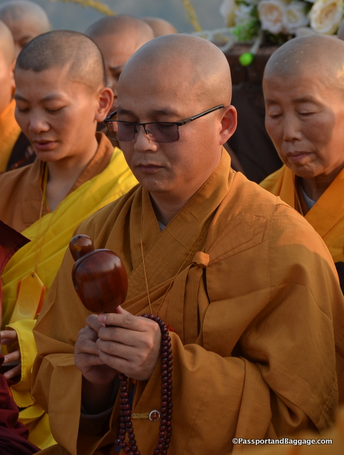 The Mahayana tradition utilizes more instruments in their chanting ceremonies.