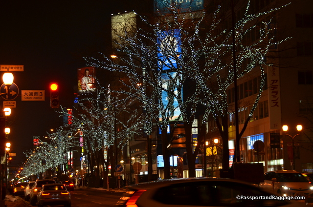Ekimae dori is a street off of Odori Park that is lined with trees that are lit up so beautifully.  These are up until February 12th.