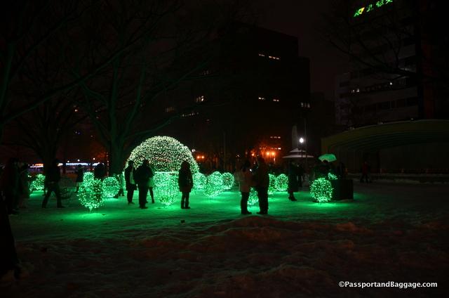 Sapporo christmas lights