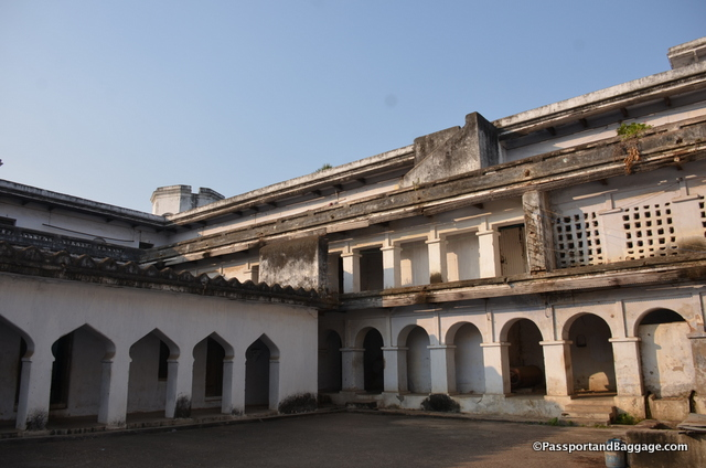 The interior courtyard of the Mahant's Residence
