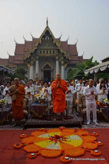 The head abbot and the Thai Temple