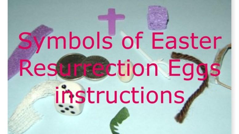 Resurrection Eggs instruction image