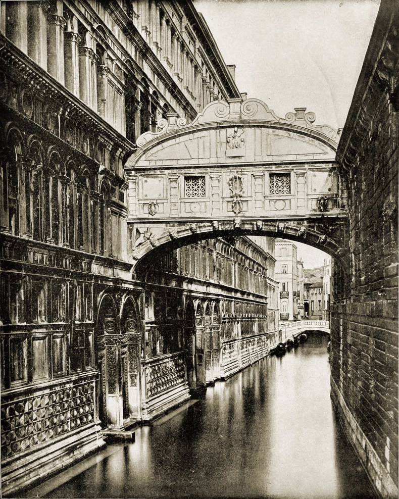 Bridge of Sighs Venice Italy about 1892