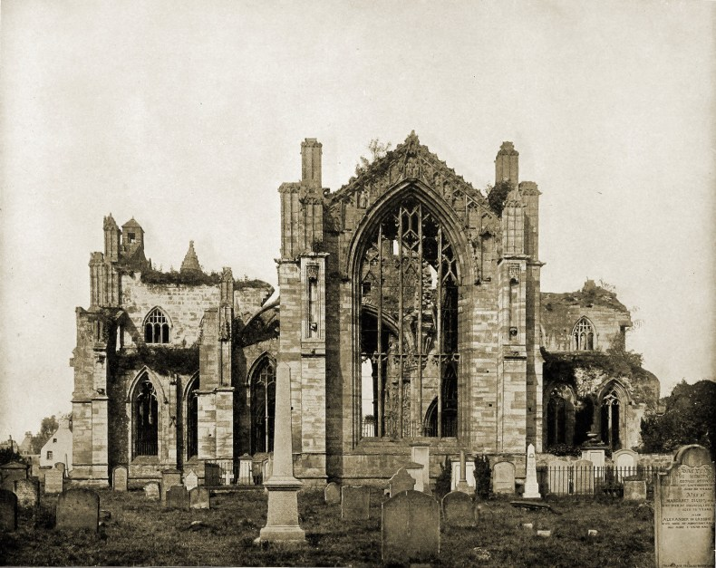 Melrose Abbey Scotland about 1892