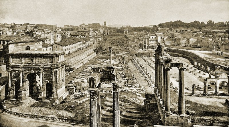 Roman Forum Rome Italy about 1892