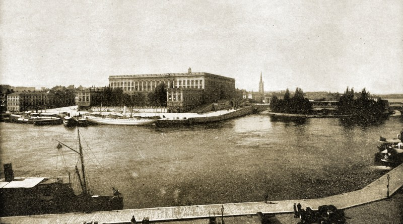 Royal Palace Stockholm Sweden about 1892